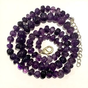 Vintage Hand Strung and Knotted Amethyst Necklace